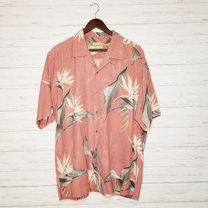 Tommy Bahama Silk Tropical Shirt Size XL